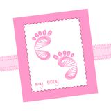 Baby traces Royalty Free Stock Images