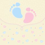 Baby traces. This is file of EPS10 format Stock Images
