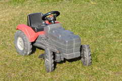 Baby tractor toy Stock Photo