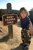 Baby traffic only Royalty Free Stock Photo