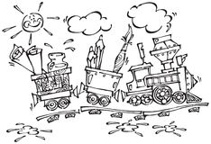 Baby train 2 Stock Photography
