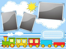 Baby train. Children's album page. Stock Images