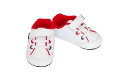 Baby training shoes. On white background Stock Photography