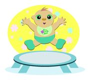 Baby Trampoline Royalty Free Stock Image