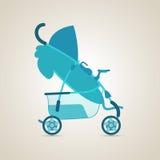 Baby transport. Pram. Baby transport. Baby Pram. Illustration Royalty Free Stock Photo