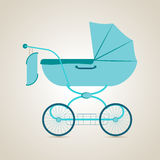 Baby transport. Pram. Baby transport. Baby Pram. Illustration Royalty Free Stock Images