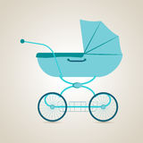 Baby transport. Pram. Vector illustration stock image