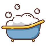 Baby tub LineColor illustration vector illustration