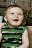 Baby in Tuin Stock Foto's