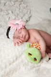 The Baby and The Turtle Royalty Free Stock Photos