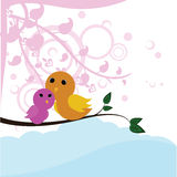 Baby tweet floral background Stock Image