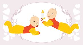 Baby twins Stock Photos