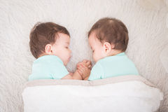 Baby twins sleeping Royalty Free Stock Photo