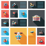 Baby ui flat icon with long shadow,eps10 Royalty Free Stock Photo