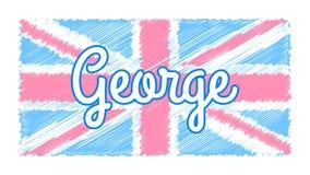 Baby UK flag vector illustration