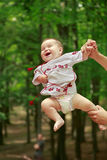Baby in ukrainian folk dress vyshyvanka Stock Images