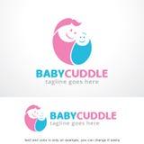 Baby-Umarmung Logo Template Design Vector, Emblem, Konzept des Entwurfes, kreatives Symbol, Ikone Stockbilder