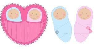 Baby und Baby lizenzfreie abbildung