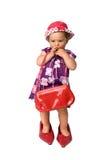 Baby und große Schuhe Stockfotografie