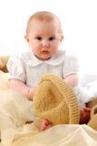Baby und Hut Lizenzfreies Stockbild