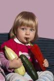 Baby und Natur Lizenzfreies Stockfoto