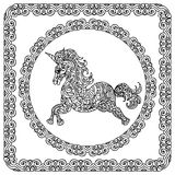 Baby Unicorn coloring page Royalty Free Stock Photos
