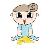 Baby urinates. Eps 10 isolated Stock Photos