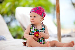 Baby on vacation Stock Photos