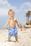 Baby on vacation Stock Images