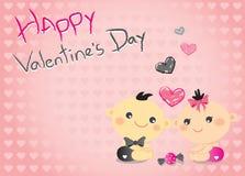 Baby valentine Stock Image