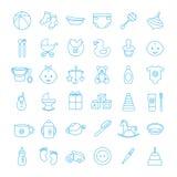 Baby vastgestelde pictogrammen Royalty-vrije Stock Fotografie