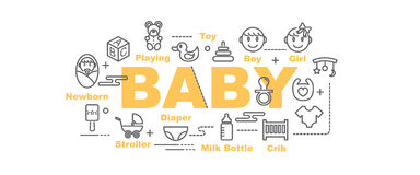 Baby vector banner Royalty Free Stock Images