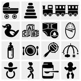 Baby vector icons set. Royalty Free Stock Photography