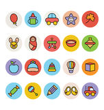 Baby Vector Icons 3 Royalty Free Stock Photo