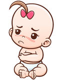 Baby. Vector Illustration of Cartoon Baby angry stock illustration