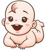 Baby. Vector Illustration of Cartoon Cute Baby Royalty Free Illustration