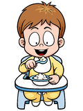 Baby. Vector illustration of cartoon baby eating stock illustration