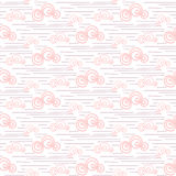 Baby vector seamless pattern. Pastel pink fun windy sky clouds print for textile. Stock Photo