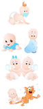 Baby Vector Set Royalty Free Stock Image