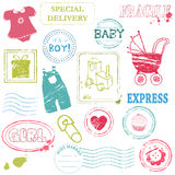 Baby Vector stamp collection Royalty Free Stock Image