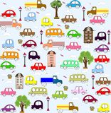 Baby Vehicle Pattern Design. Royalty Free Stock Image