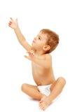 Baby verwöhnt herein oben zeigen Lizenzfreies Stockfoto