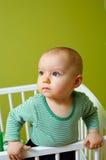 Baby in voederbak Royalty-vrije Stock Fotografie