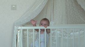 Baby Wakes Up. FullHD video stock footage