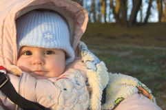 Baby on walk Royalty Free Stock Photography