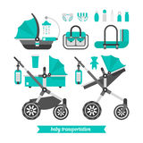 Baby walk set 3 Royalty Free Stock Photography