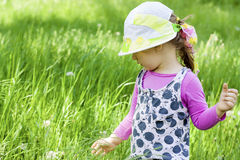Baby for a walk in summer. Royalty Free Stock Photography