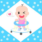 Baby walker. By vector graphics Stock Photo