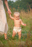 Baby walking Royalty Free Stock Images