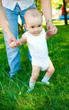 Baby walking Royalty Free Stock Photo